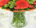 Vibrant Orange Zest Vase Code: JGF023545VOG | Local Delivery Only
