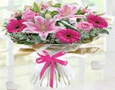 Congratulations Pink Endearment Hand-tied Code: JGFC0015300EH  | Local Delivery Or Collect From Shop Only