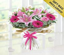Congratulations Pink Endearment Hand-tied Code: JGFC0015300EH | Local Delivery Only