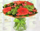 Get Well Vibrant Orange Zest Vase Green Code: JGFG023545VOGGW | Local Delivery Only