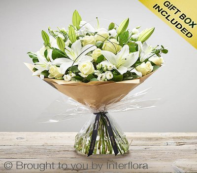 Large Wonderfully White Hand-tied  Code: C00432WS | National and Local Delivery