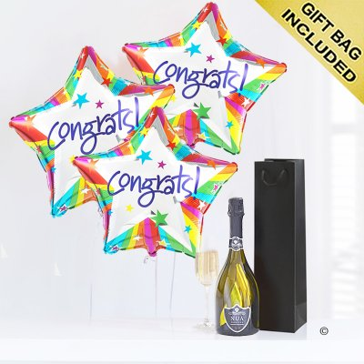 Congratulations Balloons with a delicious bubbly Prosecco Code: JGF2047CBP