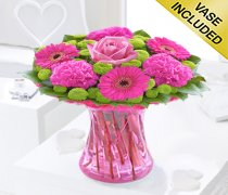 Vibrant Pink Vase Code JGF375129HV | Local Delivery Only