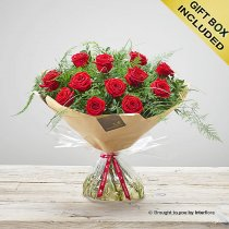 Happy Anniversary Stolen Heart Red Rose Hand-tied Code: C09501RS | National and Local Delivery