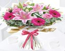 Happy Anniversary Pink Endearment Hand-tied Bouquet Code: JGFHA0015300EH | Local Delivery Or Collect From Shop Only