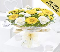 Yellow and White Captivation Handtied Code: JGF457791YH | Local Delivery Only Or Collect From Shop