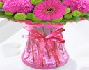 Vibrant Pink Get Well Vase With a Fun Helium Get Well Balloon Code JGFG375129GVB | Local Delivery Or Collect From Shop Only