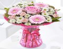 Cotton Candy Get Well Vase Arrangement Code: JGFG00281PS | Local Delivery Or Collect From Shop Only