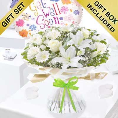 Enchanting Get Well Hand-tied With a Fun Helium Get Well Balloon Code:JGFG0025301WEHB | Local Delivery Only