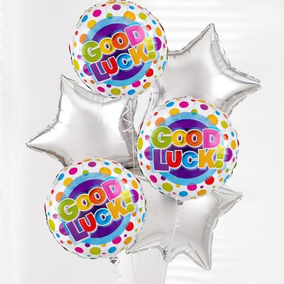 Good Luck Balloon Bouquet Code: JGF6069454BB  | Local Delivery Or Collect From Shop Only