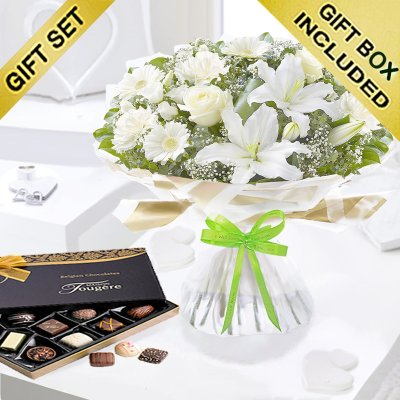 Enchanting Get Well Hand-tied with Luxury Chocolates  Code:JGFG25301WEHC | Local Delivery Only