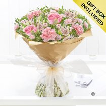 Pink Swirl Hand-tied Bouquet Code: JGF78241PSH | Local Delivery Or Collect From Shop Only