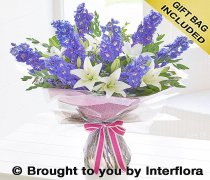 Large Delphinium and Lily Handtied Code: H634572MS