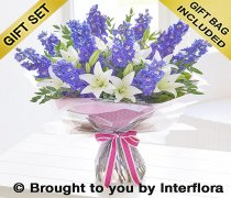Extra Large Delphinium and Lily Handtied Code: H634573MS