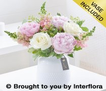 Peony and Rose Vase Code: H63521MS