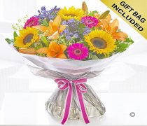 Agapanthus and Sunflower Hand-tied Code: H63461MO