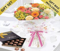 Celebration Autumn Hand-tied with a Box of Luxury Chocolate Truffles Code: JGFA90053CT | Local Delivery Or Collect From Shop Only