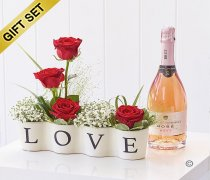 Precious Love Ceramic with Sparkling Rose Wine Code: C13481RB