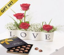 Precious Love Ceramic with a Box of Luxury Chocolate Truffles  Code: C13331RS-CT