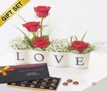 Precious Love Ceramic with a Box of Luxury Salted Caramel Truffles  Code: C13331RS-SCT