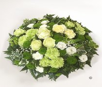 White and Green Contemporary Posy Code: JGF3965698FP