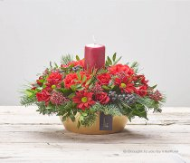 Glowing Garnet Candle Arrangement Code: X90241RS | National and Local Delivery