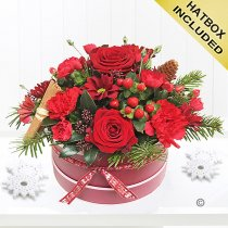 Burgundy Beauty Hatbox Code: X90221MS | National and Local Delivery