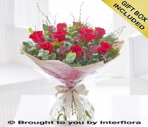 Christmas Red Rose Hand-tied Code: X89731RS
