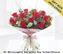 Large Christmas Red Rose Hand-tied Code: X89732RS