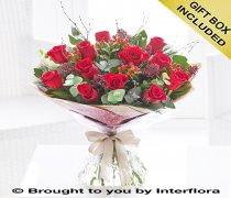 Extra Large Christmas Red Rose Hand-tied Code: X89733RS