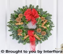 Traditional Christmas Door Wreath Code: X80031MS