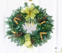 Festive Door Wreath Gold Code: JGFX6003GW  | Local Delivery Or Collect From Shop Only