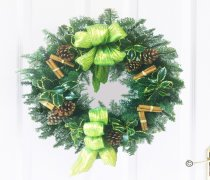 Festive Door Wreath Green Code: JGFX6003GRW | Local Delivery Or Collect From Shop Only