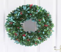 Festive Door Wreath Plain Code: JGFX6004PW | Local Delivery Or Collect From Shop Only