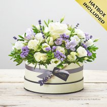 Lovely Lilac Hatbox Code: C14271BS | National and Local Delivery