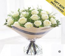 Dramatic Eighteen White Roses Code: V41362WS