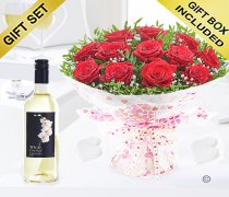 Twelve Hug's and Kisses With A Sauvignon Blanc Wine Code: JGFV421242RWW | Local Delivery Or Collect From Shop Only