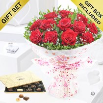 Twelve Hug's and Kisses with Luxury Belgian Chocolates Code: JGFV421242RRC | Local Delivery Or Collect From Shop Only