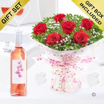 Six Hugs and Kisses With A Pink Orchid Californian Zinfandel Rosé Wine Code: JGFV76201RZW | Local Delivery Or Collect From Shop Only
