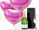Mother's Day Hearts with Champagne Code: JGFM2046BC | Local Delivery Or Collect From Shop Only
