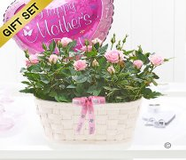 Mother's Day With Love Basket with a Happy Mother's Day Balloon Code: JGFM27751PR_MB | Local Delivery Or Collect From Shop Only
