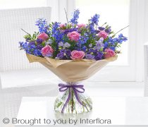 Extra Large Precious Periwinkle Hand-tied Code: S33193MS | Local Delivery Or Collect From Shop Only