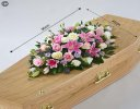 Rose and Eryngium Casket Spray Code: F13600MS | National and Local Delivery