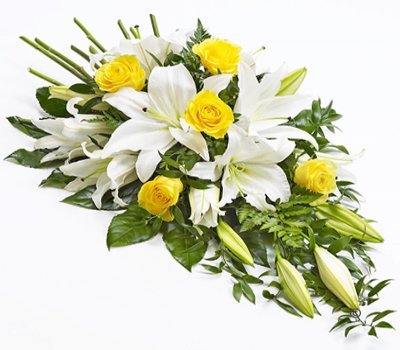 White Lily and Yellow Rose and Spray Code: F13650YS