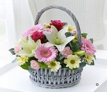 Beautiful Basket - Pink & White  Code: 260091PI