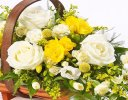 Yellow and White Mixed Basket Spray Code: F13060YS