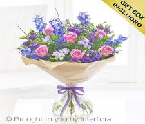 Large Precious Periwinkle Hand-tied Code: H64162MS | Local Delivery Or Collect From Shop Only