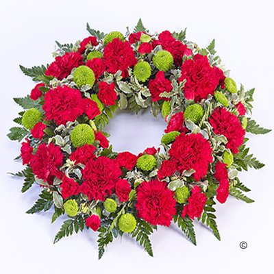 Red and Green Classic Wreath Code: F13740RS