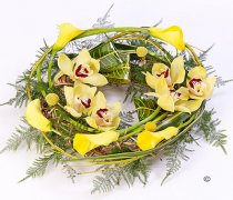 Yellow Woodland Wreath Code: F13210YS