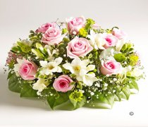 Rose and Freesia Posy Pink and White Code: JGFF960PPW | Local Delivery Or Collect From Shop Only